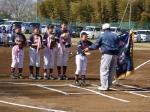 総武少年野球リーグ開会式