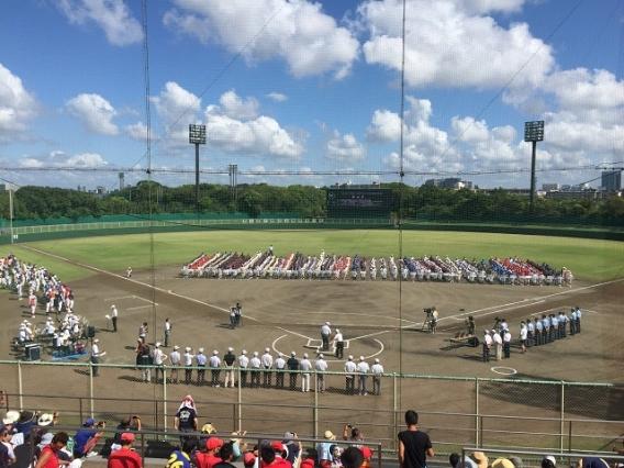 第46回千葉県少年野球大会(千葉日報旗大会)開会式